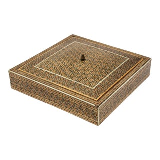 Mosaic Inlaid Jewelry Moorish Box For Sale