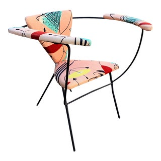 Mid Century Modern Iron Chair Joseph Cicchelli for Reilly-Wolff For Sale