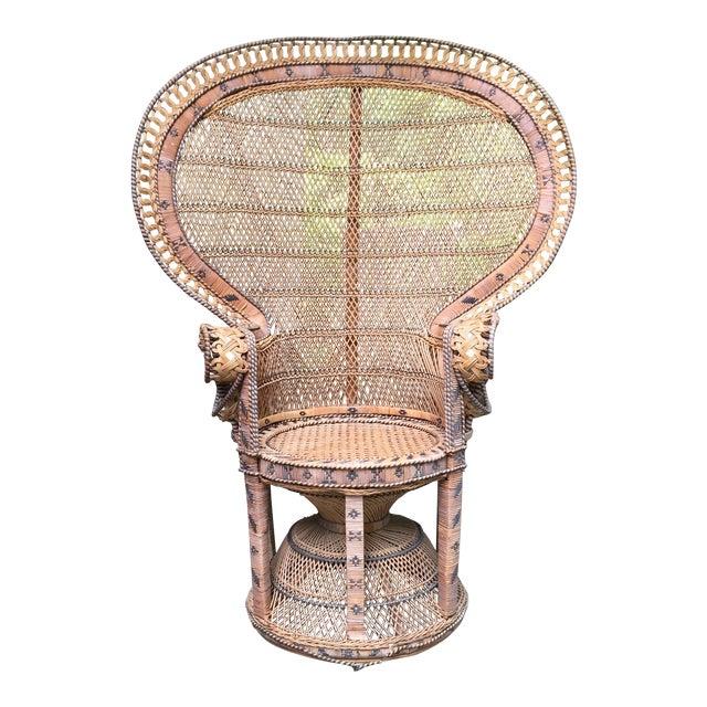 Emmanuelle Style Wicker Peacock Chair For Sale