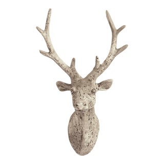 Burch Deer Head in Gray For Sale