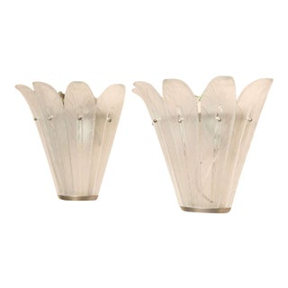 Pair of Art Deco Wall Sconces by Sabino For Sale