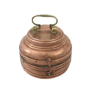 Antique Round Copper Foot Warmer
