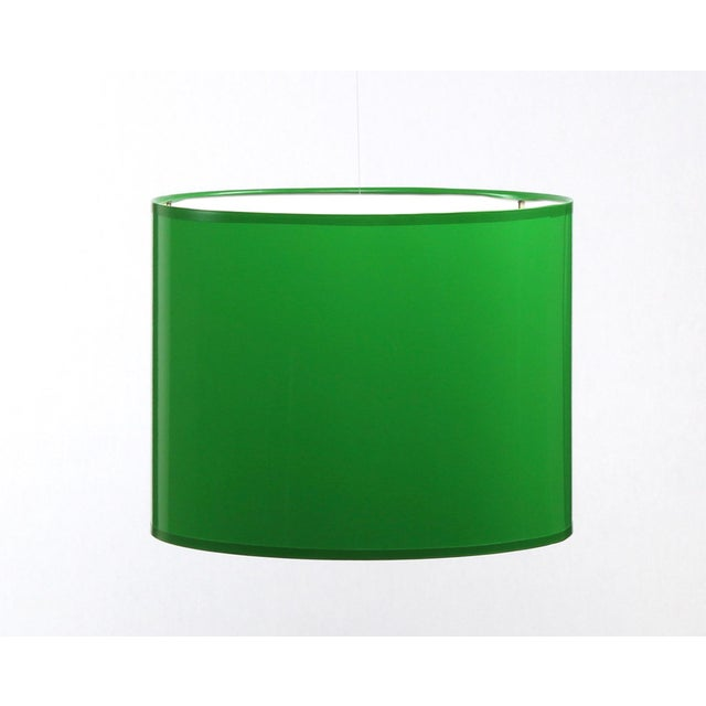 Large Kelly Green Drum Lamp Shade For Sale - Image 6 of 7