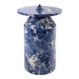 Image of Karen Chekerdjian Modern Marble Side Table For Sale