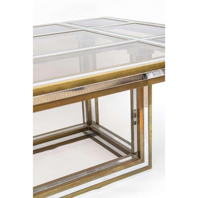 Romeo Rega Brass and Chrome Coffee Table - Image 2 of 5
