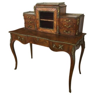 Mid 19th C. Vintage English Bonheur De Jour Desk For Sale