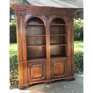 Mahogany Double Arch Italian Bookcase Preview