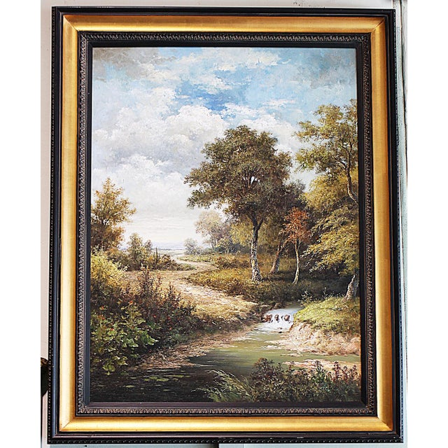Large Country Stream Painting For Sale - Image 10 of 10