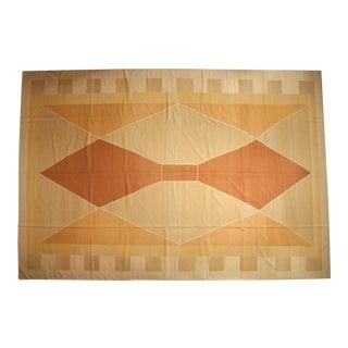 """Vintage Contemporary Kilim Carpet - 12'4"""" X 18'1"""" For Sale"""