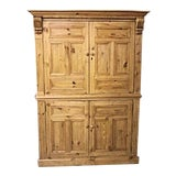 Image of Antique Dutch Pine Armoire For Sale