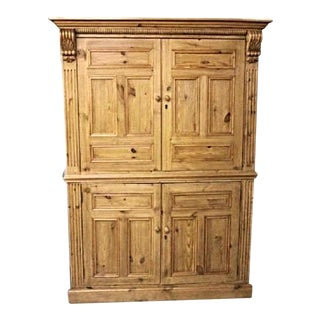 Antique Dutch Pine Armoire For Sale