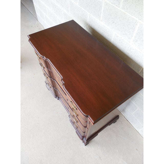 KINDEL Chippendale Style Mahogany Block Front Chest - Image 9 of 11