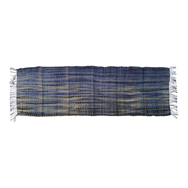 Tribal Tie Dye Hemp Table Runner - Image 1 of 5