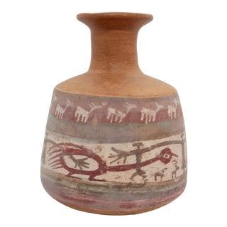 20th Century Primitive Earthenware Monkey Vase For Sale