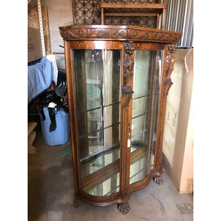 1920's Antique Glass and Wood Frame Cabinet Preview