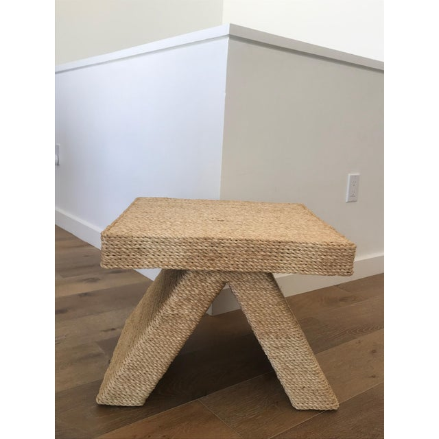 1980s Rope Wrapped Cross Bench For Sale In Aspen - Image 6 of 6