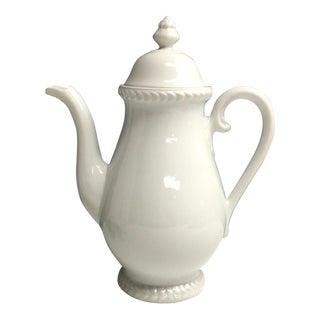 1930s Traditional Carl Teilsch AltwasserWhite Pottery Coffee Pot