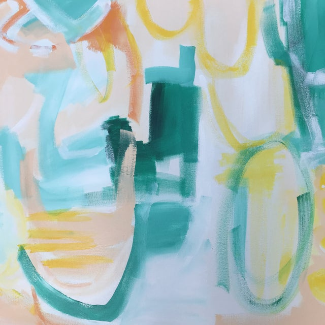 """Christina Longoria """"Summer Garden"""" Contemporary Abstract Painting For Sale - Image 4 of 5"""