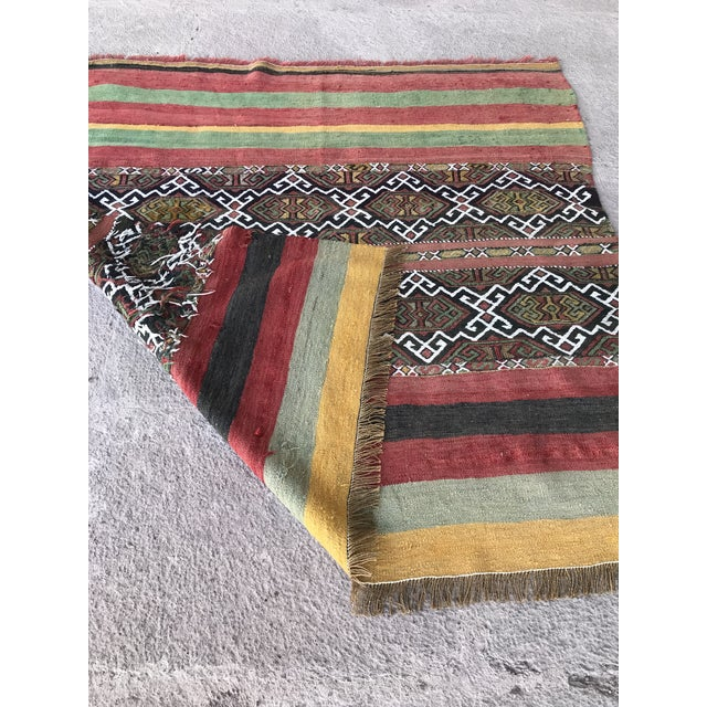 1930s Turkish Anatolian Kilim Rug For Sale In Raleigh - Image 6 of 9