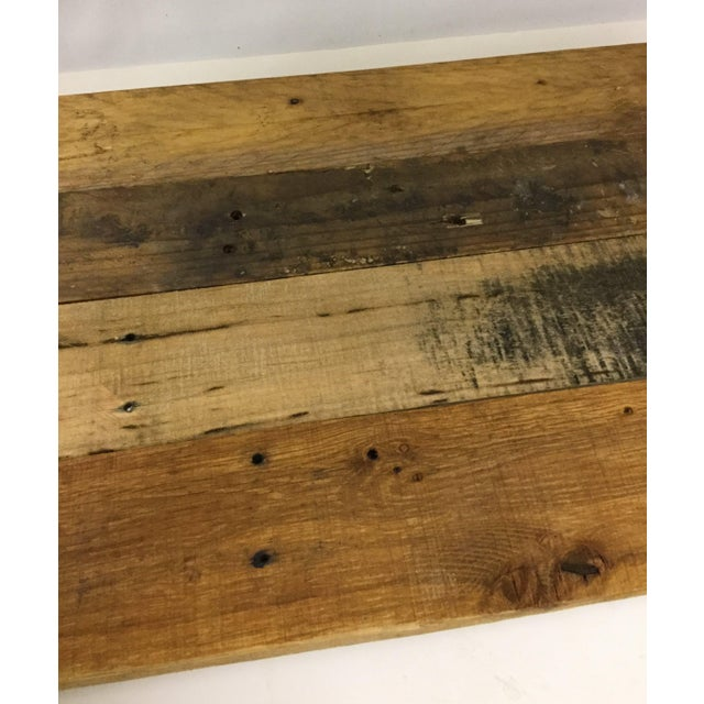 Brown Adjustable Height Industrial Style 3-Shelf Pallet Wood Bookcase For Sale - Image 8 of 13