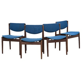 Four Finn Juhl for France & Sons Dining Chairs For Sale