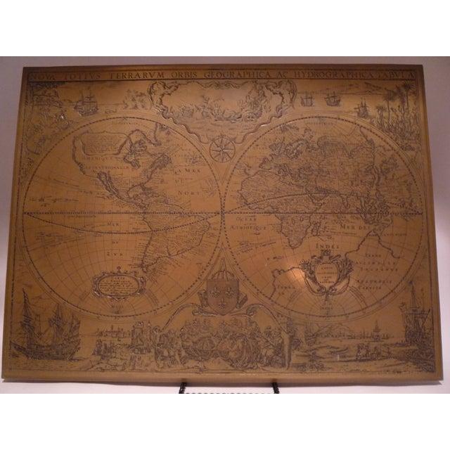 Handmade Bronze Brass Map - Image 2 of 7