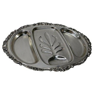 Vintage Silverplate Meat Tray