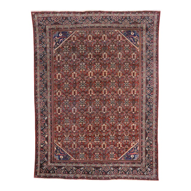 Antique Persian Mahal Rug with Traditional Style For Sale