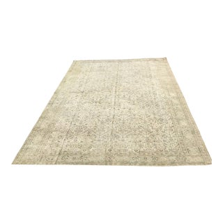 Large Hand Knotted Oushak Rug For Sale