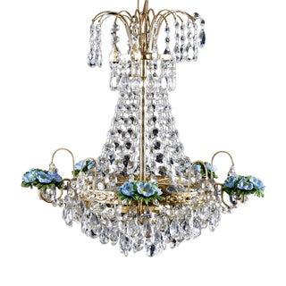 Antique Crystal Chandelier 1900s For Sale