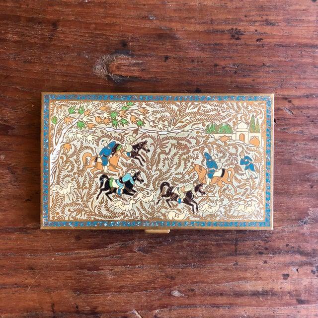 1950s Vintage Volupte Brass Cigarette Case For Sale - Image 5 of 5