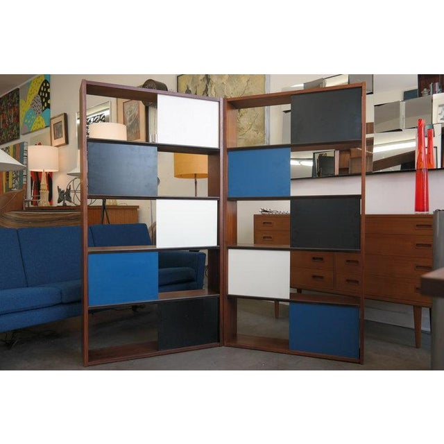 Mid-Century Modern Evans Clark Color Block Bookcase For Sale - Image 3 of 7