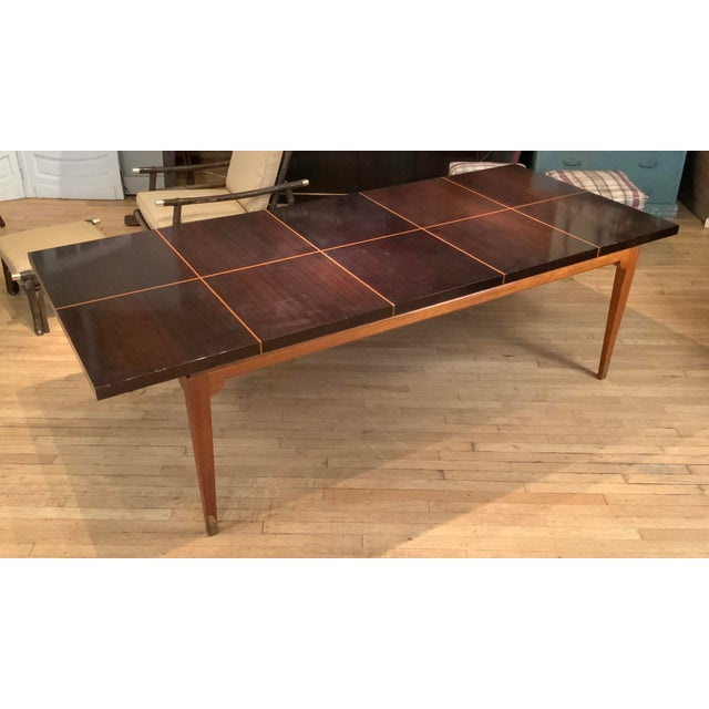 Wood 1950s Mahogany Extension Dining Table by Tommi Parzinger for Parzinger Originals For Sale - Image 7 of 13