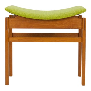 1950s Vintage Inger Klingenberg Danish Modern Teak Stool For Sale