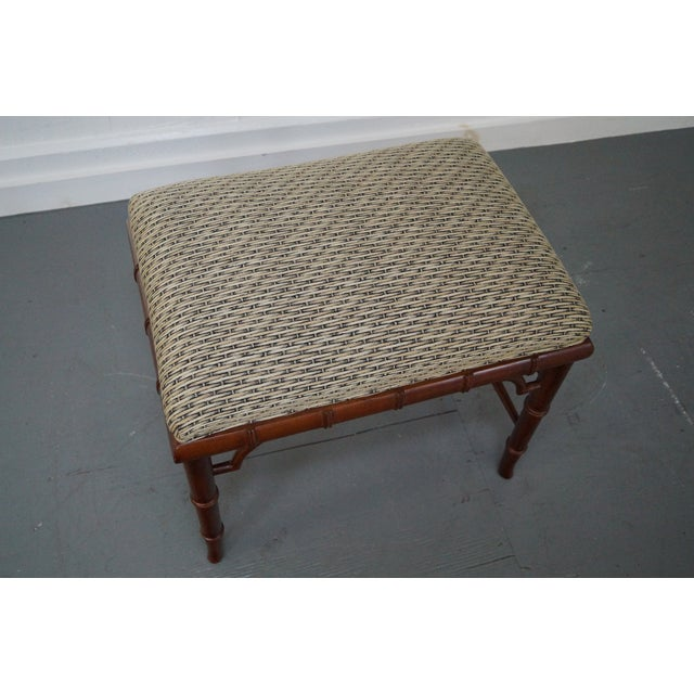 Councill Craftsman Faux Bamboo Ottoman - Image 3 of 10