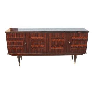 1940s Art Deco Exotic Macassar Ebony Sideboard/Buffet For Sale