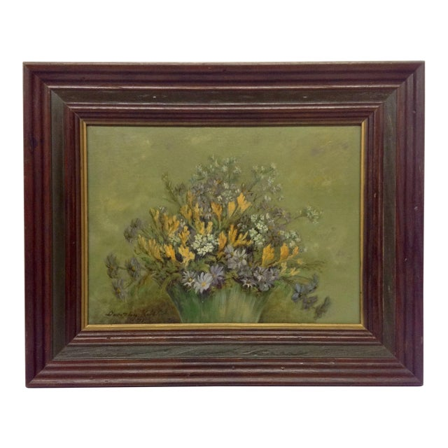 1971 Oil Painting by Texas Artist Dorothy Keith For Sale
