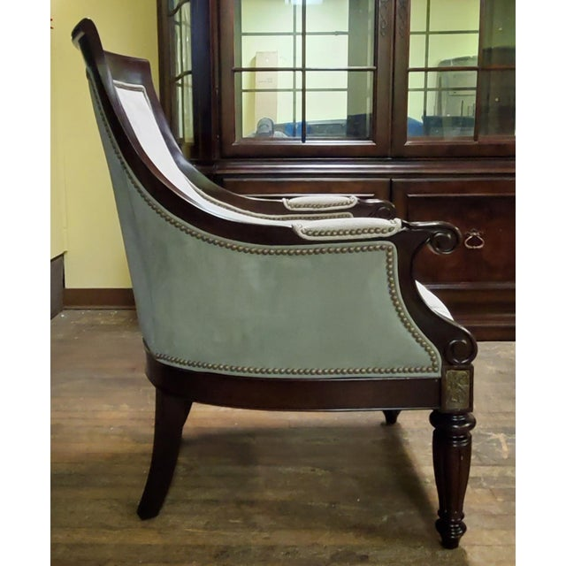 Thomasville Thomasville Furniture Ernest Hemingway Anson Tufted & Leather Accent Chair For Sale - Image 4 of 13
