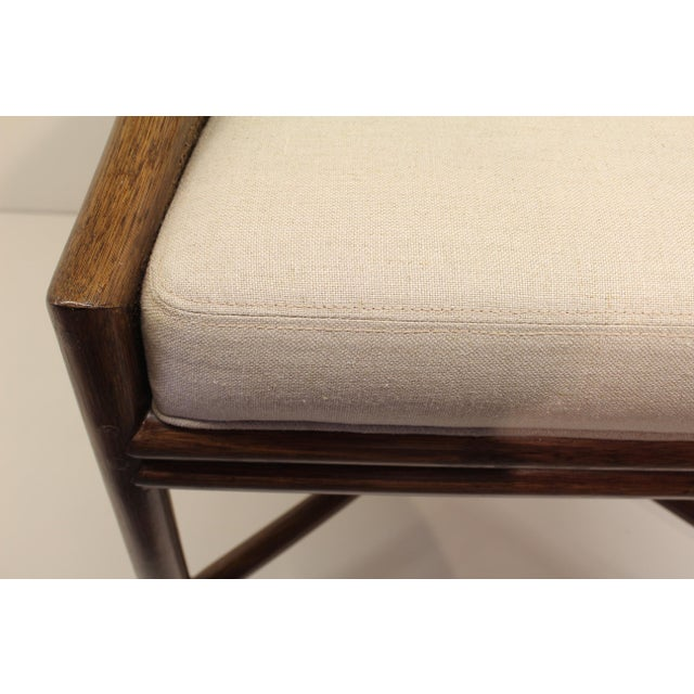 McGuire Barbara Barry Petite Caned Arm Chair - Image 3 of 5