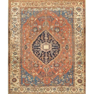 Persian Serapi Hand Knotted Rug - 9′ × 12′ For Sale