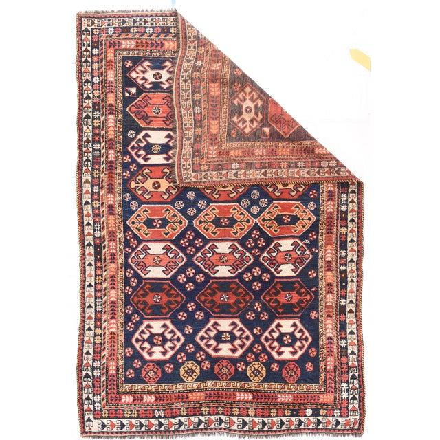Tribal Antique Persian Qashqai Rug For Sale - Image 3 of 4