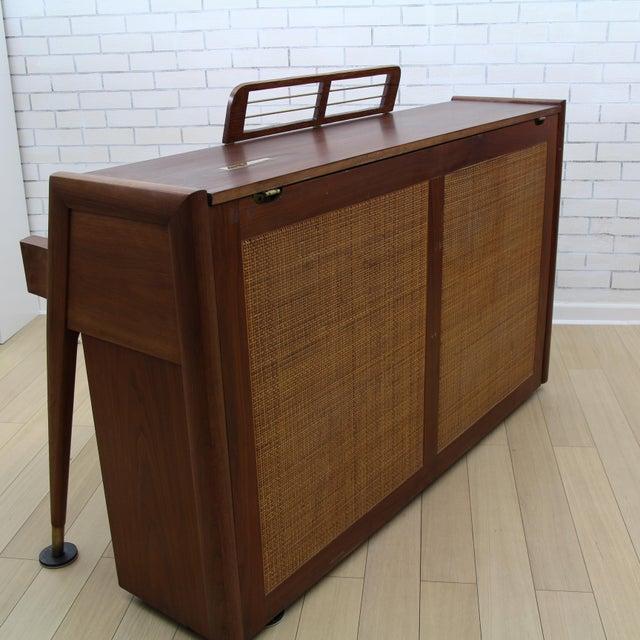 Mid-Century Modern Hidden Piano Bar With Liquor Wine Storage - Baldwin  Acrosonic