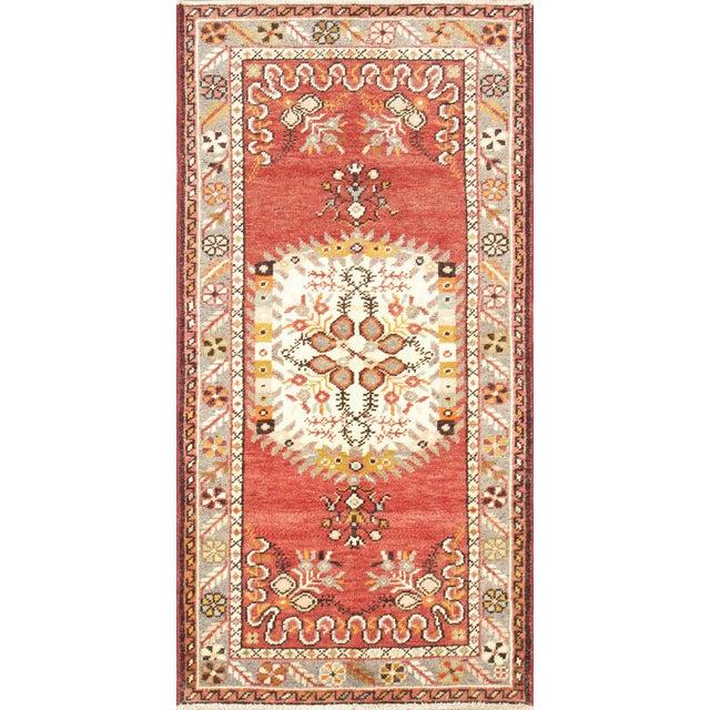 "Vintage Turkish Anatolian Wool Runner- 2'9"" x 5'6"" - Image 1 of 3"