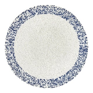 Navy & White Splatter Placemat For Sale