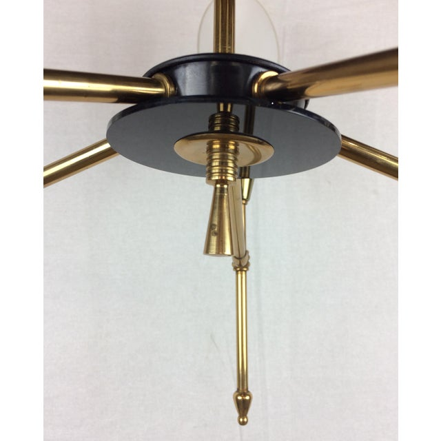 Antique White Mid-Century Glass Globe Directional Chandelier by Maison Arlus For Sale - Image 8 of 12