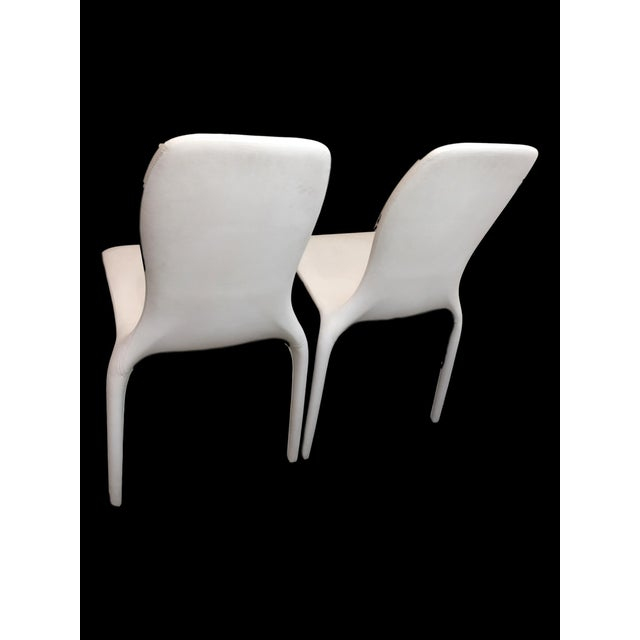 Contemporary Italian Angelo Tomaiuolo for Tonin Casa Lisetta Leather Chairs - A Pair For Sale - Image 3 of 5