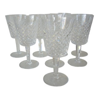 Waterford White Wine Crystal Goblets - Set of 8 For Sale