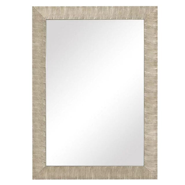 Transitional Style Silver Leaf Wall Mirror For Sale