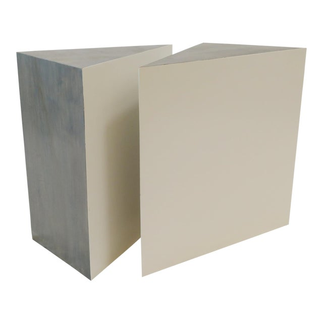 Triangle Side Tables - A Pair - Image 1 of 8