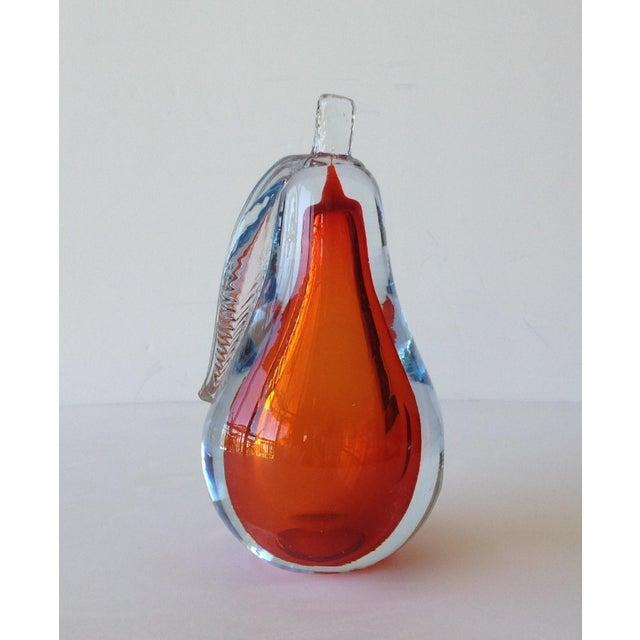 Alfredo Barbini Hand-Blown Murano Pear Bookend - Image 4 of 10